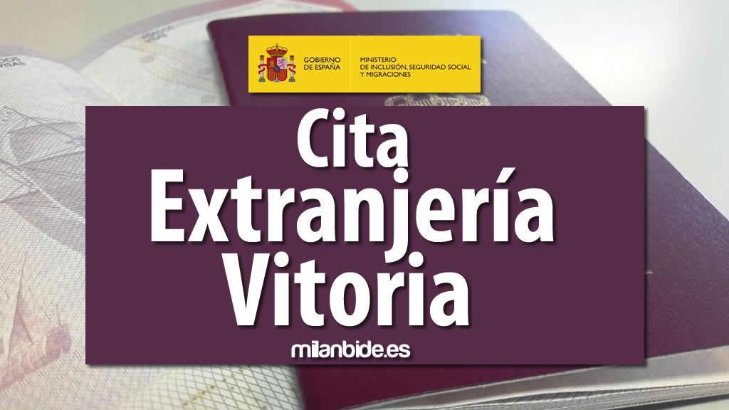 CITA EXTRANJERÍA VITORIA